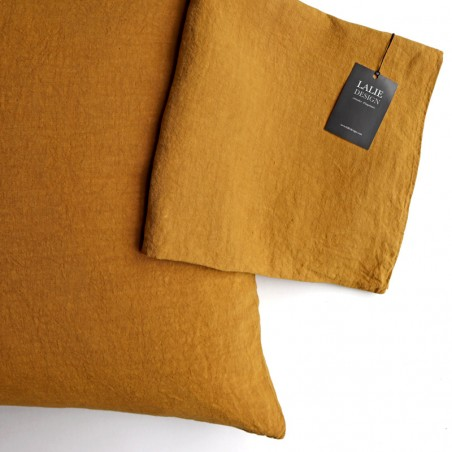 HOUSSE COUSSIN - moutarde