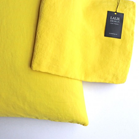 HOUSSE COUSSIN - jaune