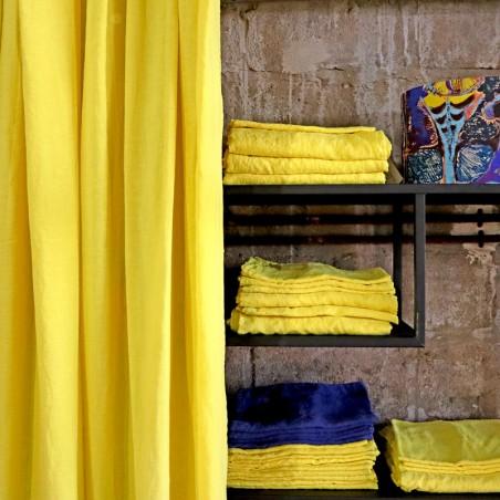 DESSUS DE LIT/RIDEAU jaune